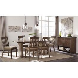 Zilmar Brown Rectangular Dining Room Set