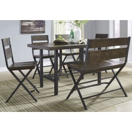 Kavara Medium Brown Rectangular Counter Dining Room Set