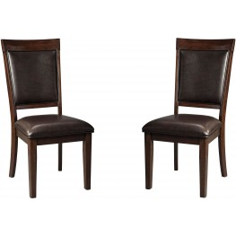 Shadyn Brown Dining Upholstered Side Chair Set of 2