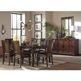 Shadyn Brown Rectangular Extendable Dining Room Set