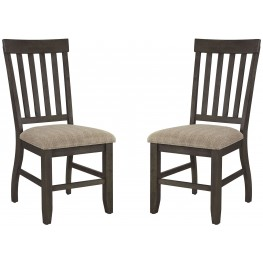 Dresbar Grayish Brown Upholstered Counter Stool Set of 2
