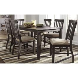 Dresbar Grayish Brown Rectangular Dining Room Set