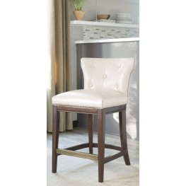 Canidelli Off White Upholstered Barstool Set of 2
