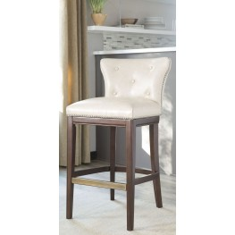 Canidelli Tall Off White Upholstered Barstool Set of 2