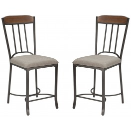 Zanilly Two-tone Upholstered Counter Stool Set of 2
