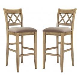 Mestler Tall Upholstered Barstool Set of 2