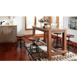 Pinnadel Rectangular Counter Height Dining Room Set