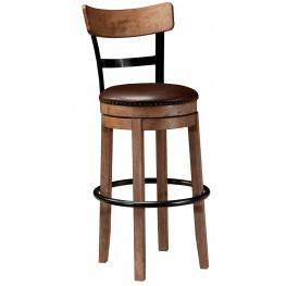 Pinnadel Tall Upholstered Swivel Barstool
