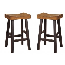 Glosco Two-tone Tall Stool Set of 2