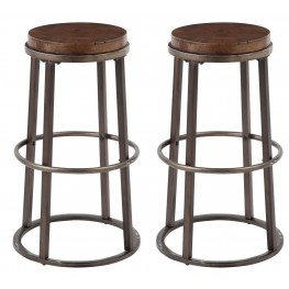 Glosco Medium Brown Tall Stool Set of 2