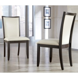 Trishelle Dining Upholstered Cream Side Chair Set of 2
