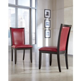 Trishelle Dining Upholstered Red Side Chair Set of 2