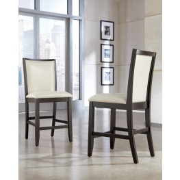 Trishelle Cream Upholstered Counter Stool Set of 2