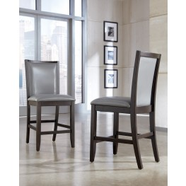 Trishelle Gray Upholstered Barstool Set of 2