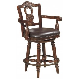 North Shore Upholstered Swivel Barstool