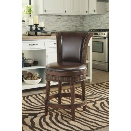 "North Shore 24"" Upholstered Swivel Barstool"
