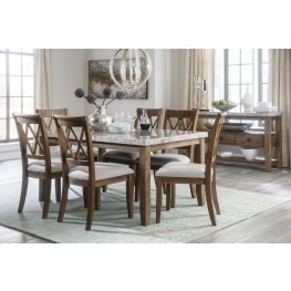 Narvilla Two-Tone Rectangular Dining Room Set