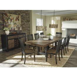 Emerfield Two-tone Brown Rectangular Extendable Dining Room Set