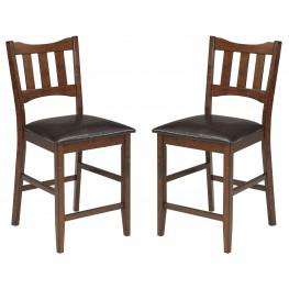 Renaburg Dark Brown Upholstered Barstool Set Of 2
