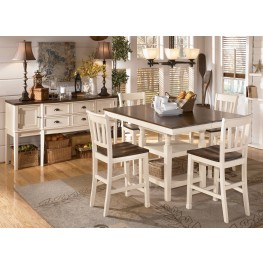 Whitesburg Square Counter Extention Dining Room Set
