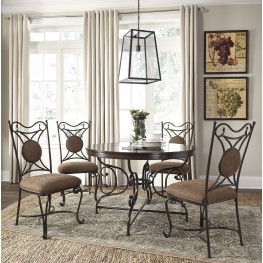 Brulind Brown Round Dining Room Set