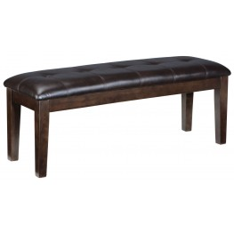 Haddigan Dark Brown Large Upholstered Dining Room Bench