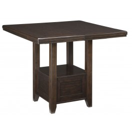 Haddigan Dark Brown Rectangular Extendable Counter Height Dining Table