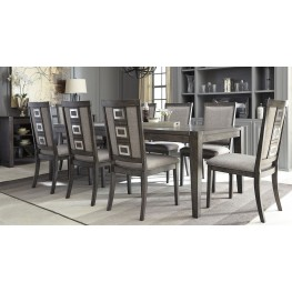 chadoni gray rectangular extendable dining room set - Dining Room Sets