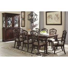 Leahlyn Brown Extendable Rectangular Dining Room Set