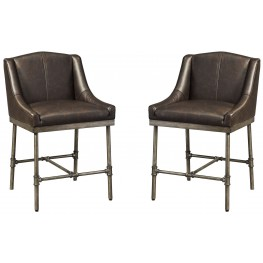 Starmore Brown Upholstered Counter Stool Set of 2