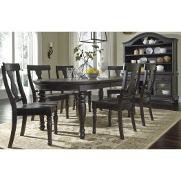 Sharlowe Charcoal Rectangular Extendable Dining Room Set
