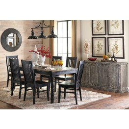 Clayco Bay Black Rectangular Dining Room Set