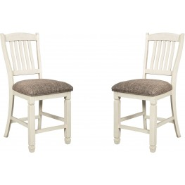Bolanburg Two Tone Upholstered Barstool Set of 2