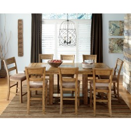 Krinden Rectangular Counter Height Extendable Dining Room Set