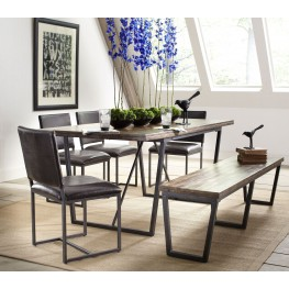 Plaza Warm Acacia Rectangular Dining Room Set