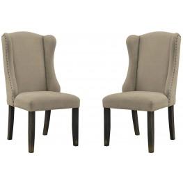 Gerlane Light Brown Upholstered Side Chair Set of 2
