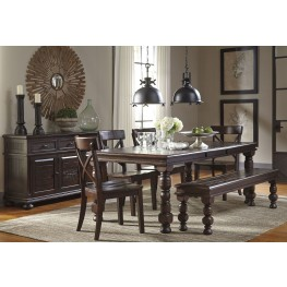 Gerlane Dark Brown Extendable Rectangular Dining Room Set