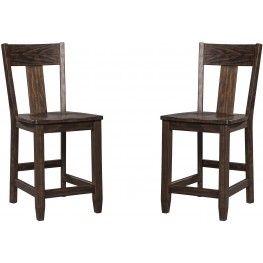 Trudell Dark Brown Counter Stool Set of 2