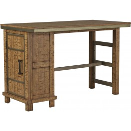 Dondie Warm Brown Rectangular Storage Counter Height Dining Table