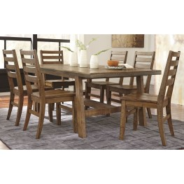 Dondie Light Brown Rectangular Dining Room Set