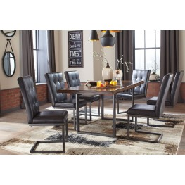 Esmarina Dark Brown Rectangular Dining Room Set