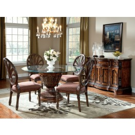 Ledelle Round Glass Top Dining Room Set