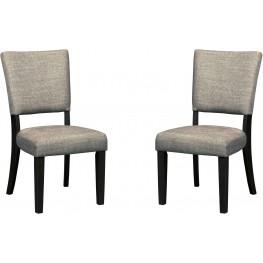 Zurani Linen Dining Upholstered Side Chair Set of 2