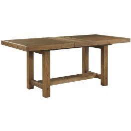 Tamilo Grayish Brown Rectangular Dining Counter Extendable Dining Table