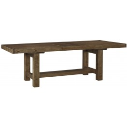 Tamilo Gray/Brown Rectangular Extendable Dining Table