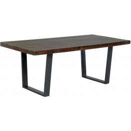 Parlone Dark Brown Rectangular Dining Room Table