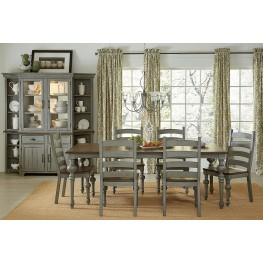 Colonnades Putty and Oak Rectangular Dining Room Set