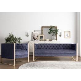 Farah Dark Gray Living Room Set