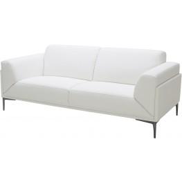 Davos White Leather Sofa