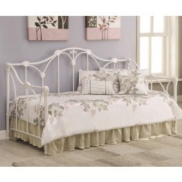 300216 Floral White Frame Daybed